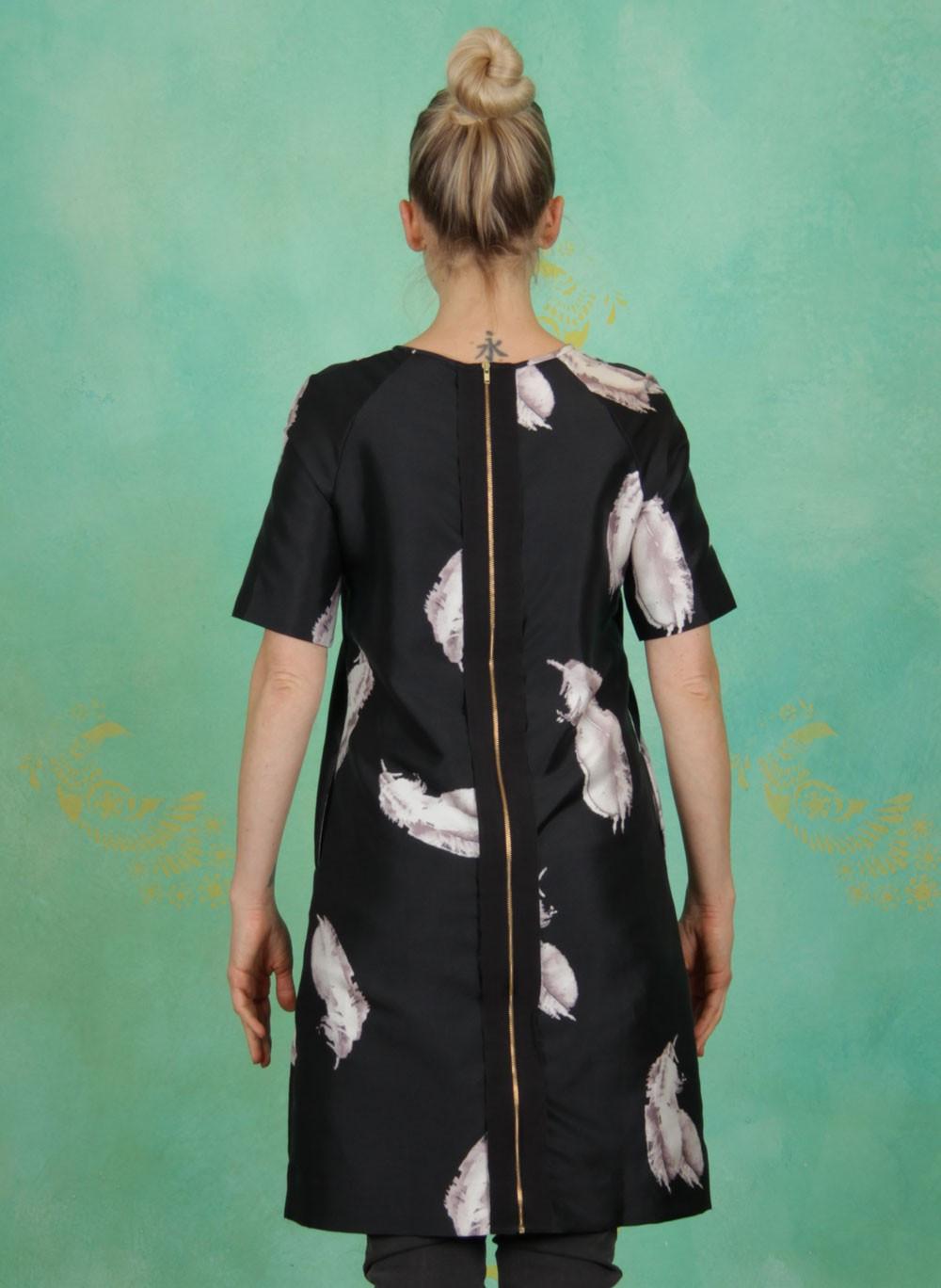 Noa Noa  Winter  Kleid Printed Silk Blend Printblack