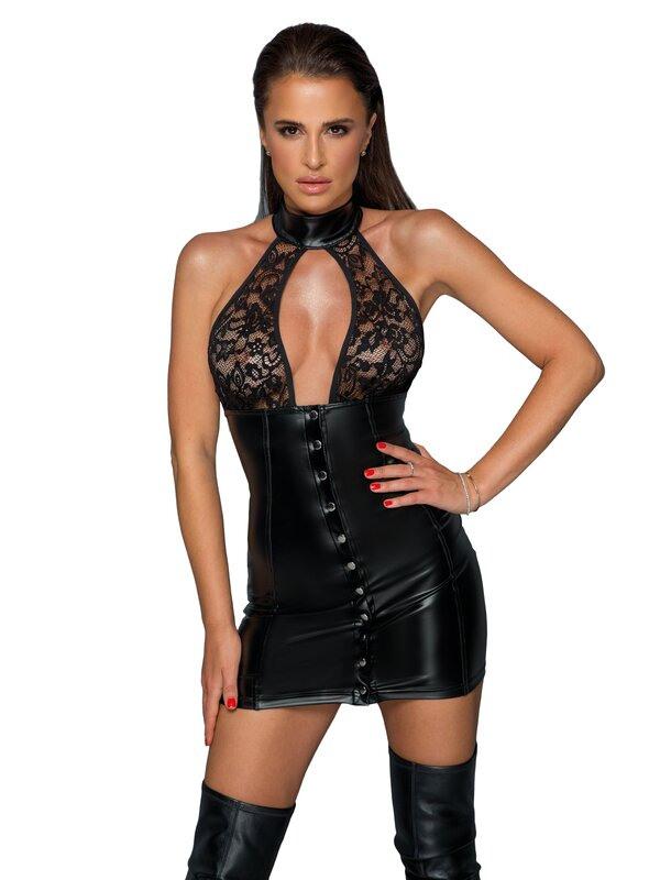 Noir Handmade  Kleid Mit Durchgehender Knopfleiste 6995