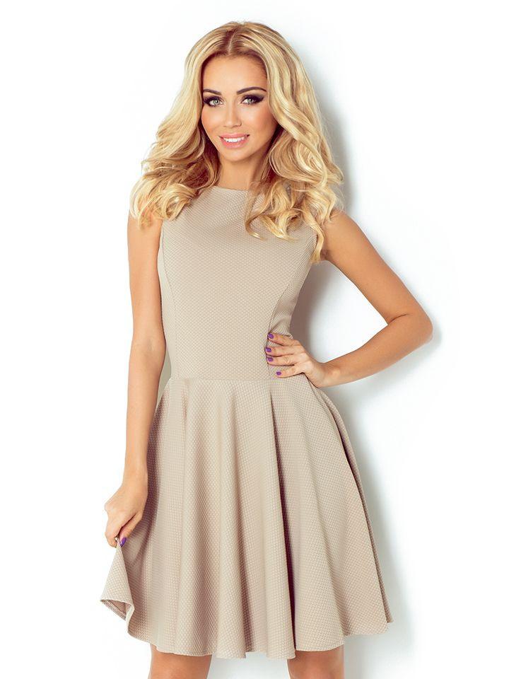 Numoco Kleid In Beige 64  Größe Xl  Kurze Kleider