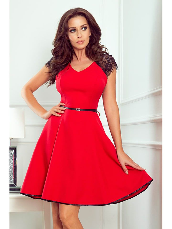Numoco Kleid In Rot In 2020  Cocktailkleid Rot Rotes