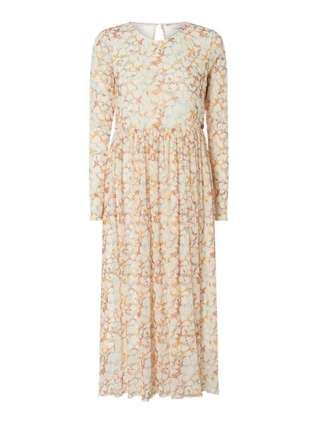 Nümph Kleid Mit Allovermuster Modell 'Nufreya' In Weiß