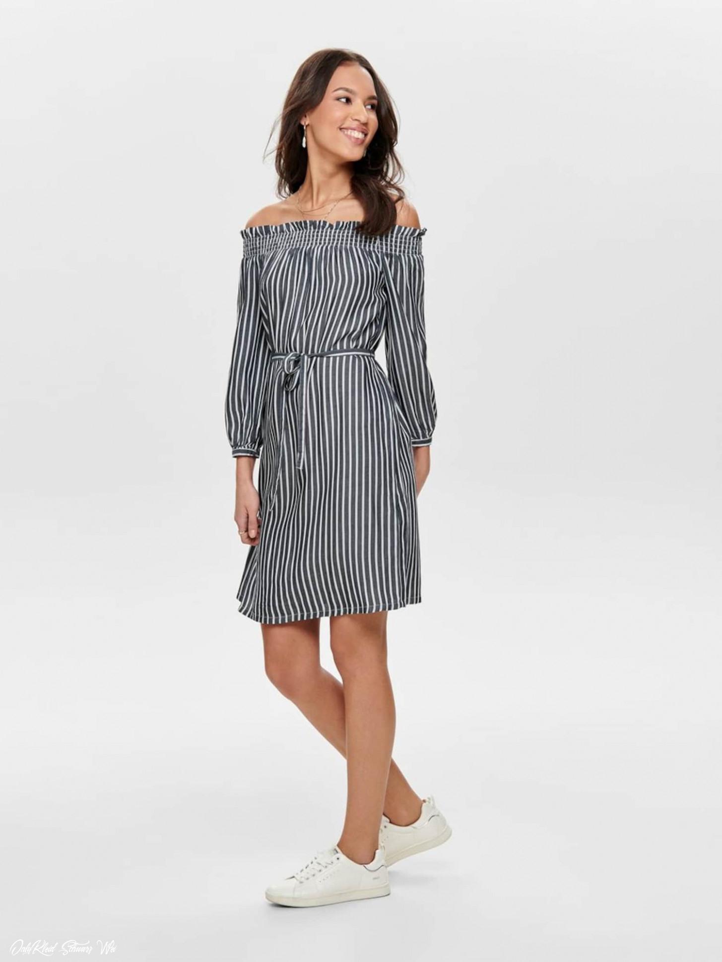 Nur Kleid Schwarz Weiß  Abendkleider