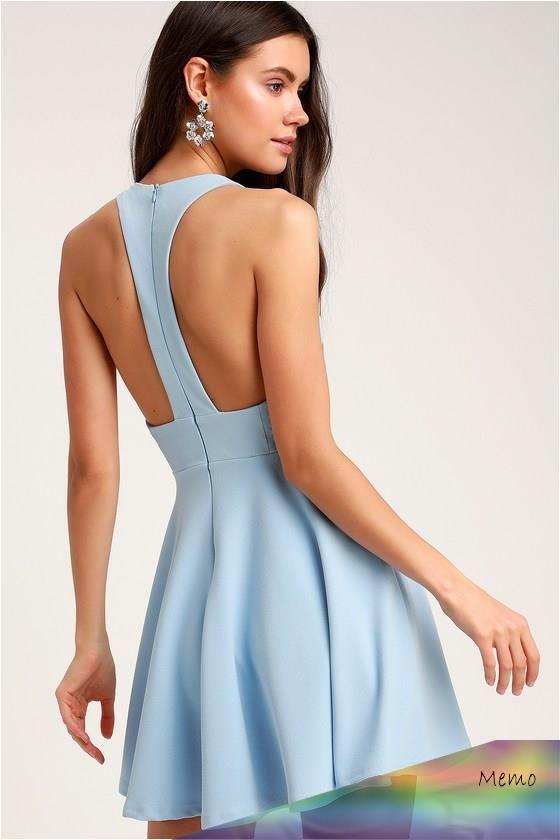 Oct 24 2019  Lulus  Lawson Light Blue Skater Dress