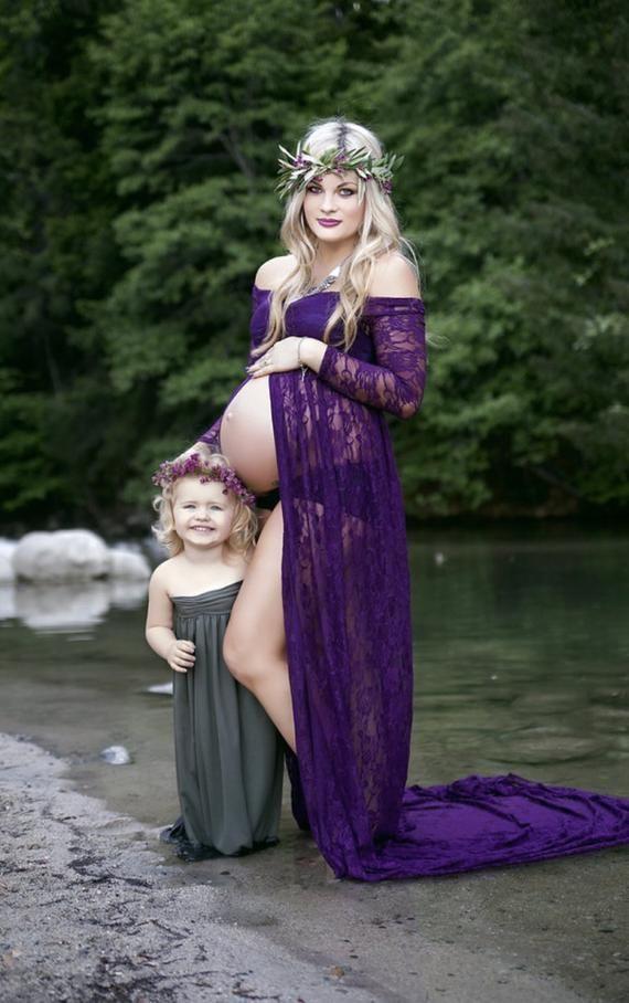 Olive Jersey Girl Dress  Kleider Für Schwangere