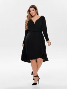 Only Carmakoma Kleid Damen Schwarz Größe 42  Modestil