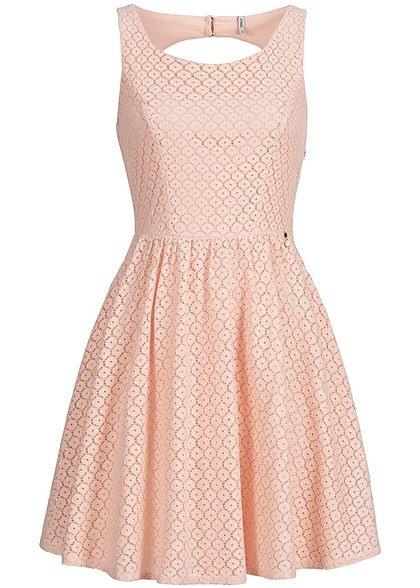 Only Damen Mini Kleid 2Lagig Rückenausschnitt Loch Optik