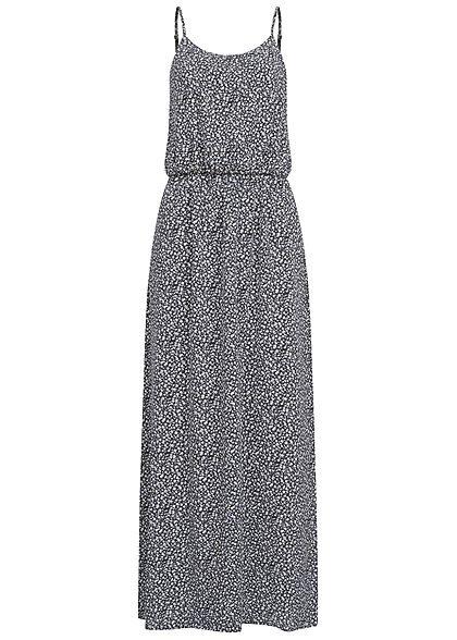 Only Damen Noos Maxi Kleid Taillengummizug Blumen Print