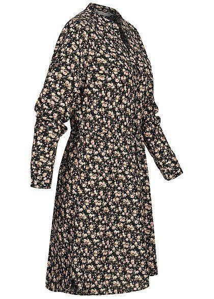 Only Damen Noos Vneck Krepp Tunika Kleid Taillenzug