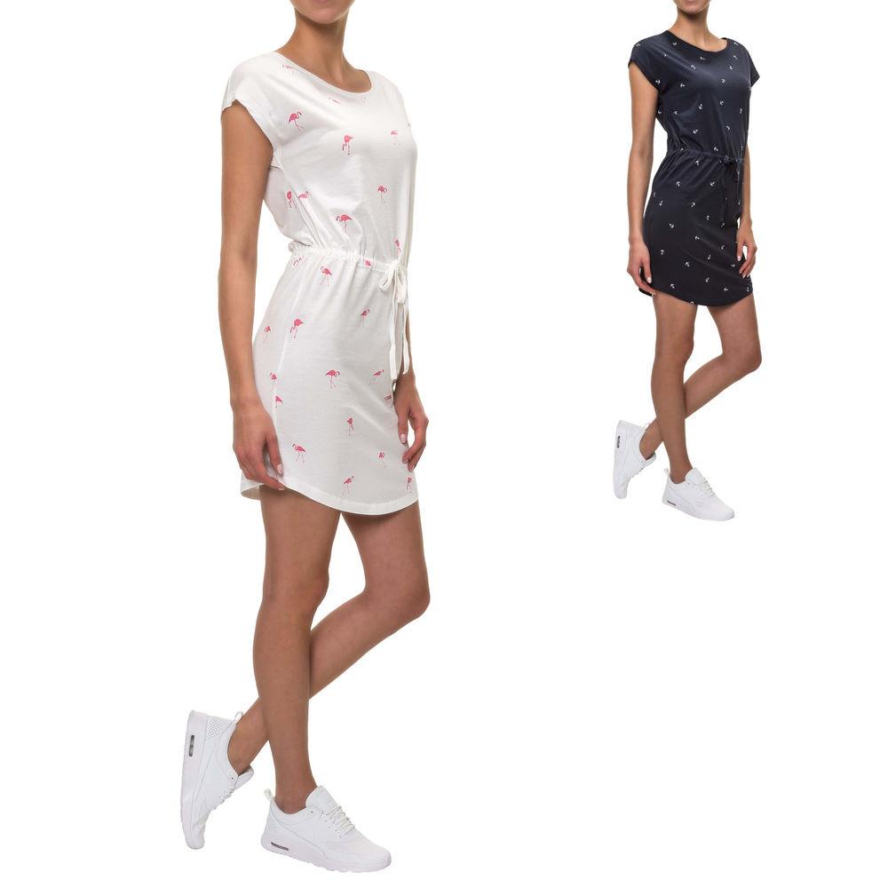 Only Damen Sommerkleid Jerseykleid Shirtkleid Print