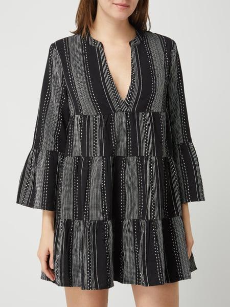 Only Kleid Aus Baumwolle Modell 'Gry' In Grau / Schwarz