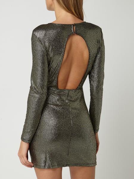 Only Kleid In Metallicoptik In Gelb Online Kaufen