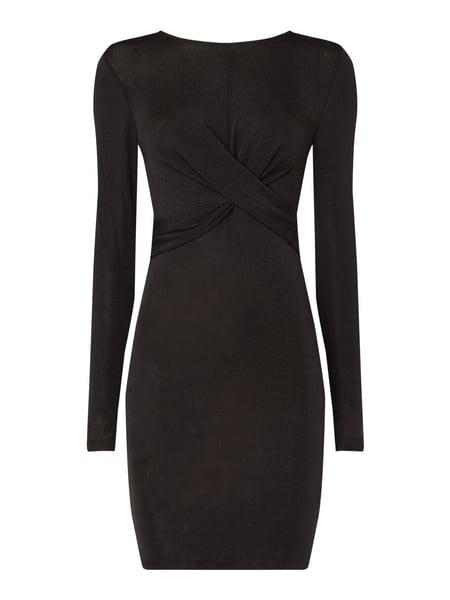 Only Kleid Mit Effektgarn In Grau / Schwarz Online Kaufen