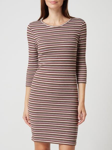 Only Kleid Mit Streifenmuster In Gelb Online Kaufen
