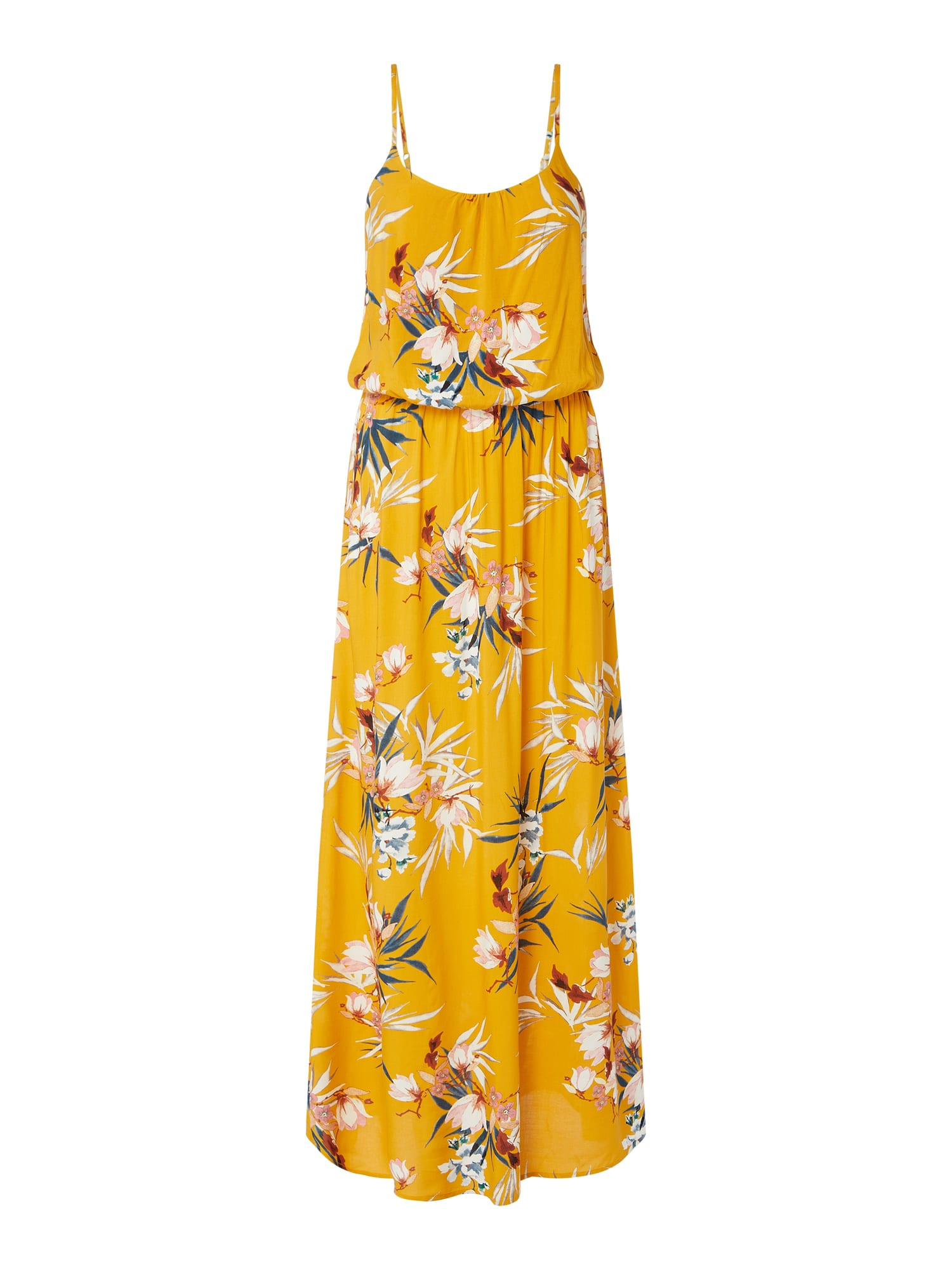 Only Maxikleid Mit Floralem Muster Modell 'Nova' In Gelb