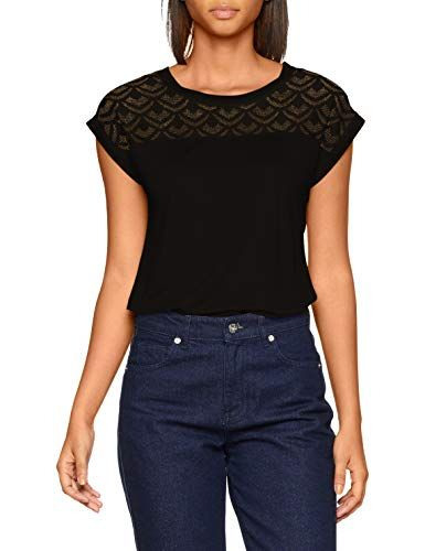 Only Nos Damen Tshirt Onlnicole S/S Mix Top Noos Schwarz