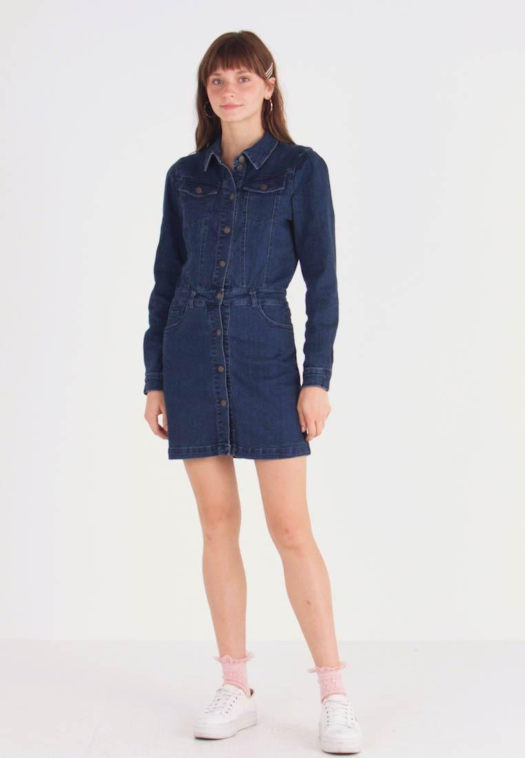Only Onlcleva Dress York  Jeanskleid  Dark Blue Denim