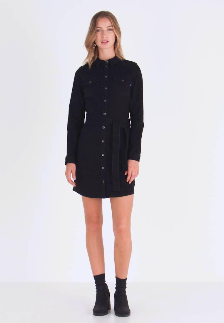 Only Onlkencye Shirt Dress  Jeanskleid  Black  Zalandode