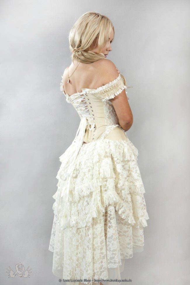 Ophelie Steampunk Korsettkleid Cream  Kleider