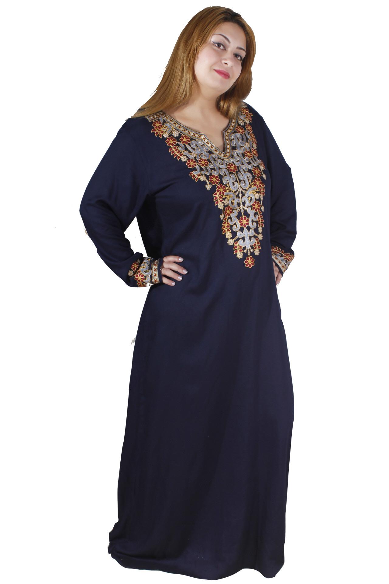 Orientalischer Damenkaftan Nachtblau