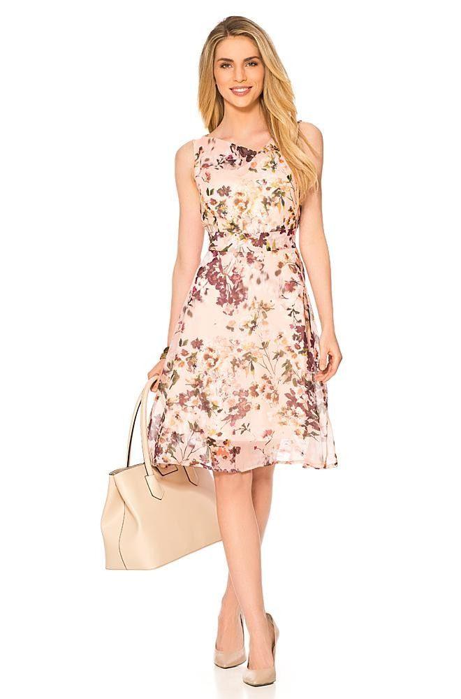 Orsay ☼ Kleider Kleid Mit Blumenprint  Schöne Kleider