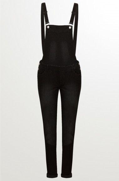 Orsay Jeans  Skinny Dungarees In Black Mywork