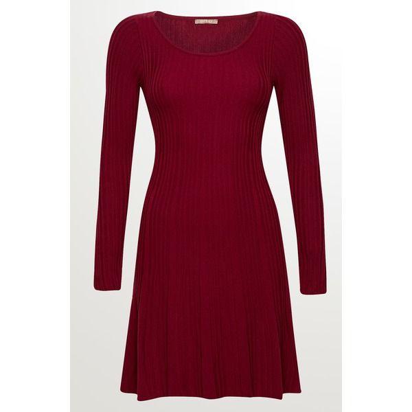 Orsay Strickkleid Mit Struktur Rot Damen  Schöne Kleider