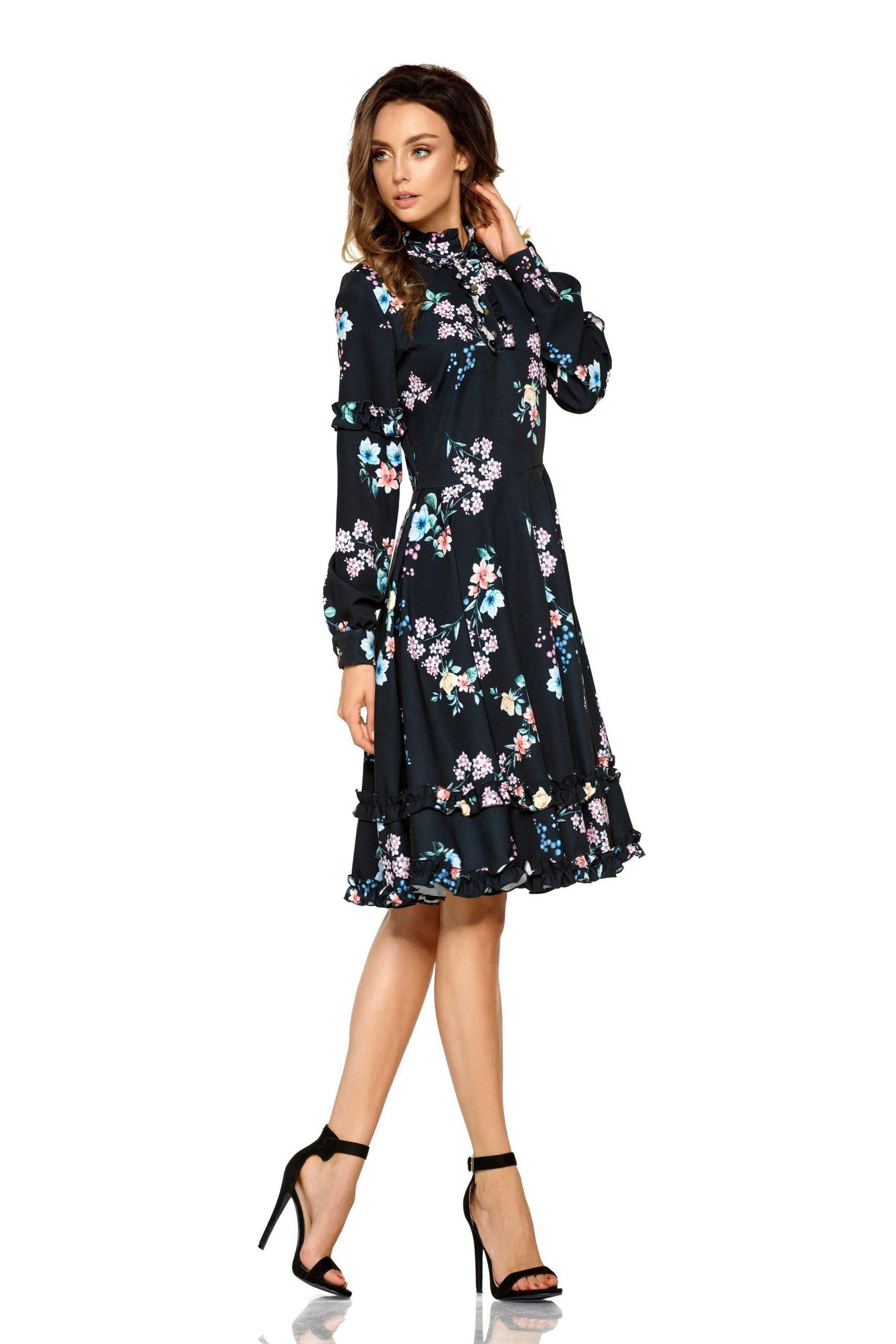 Otto Lemoniade Casual Dress With Fashionable Floral Print