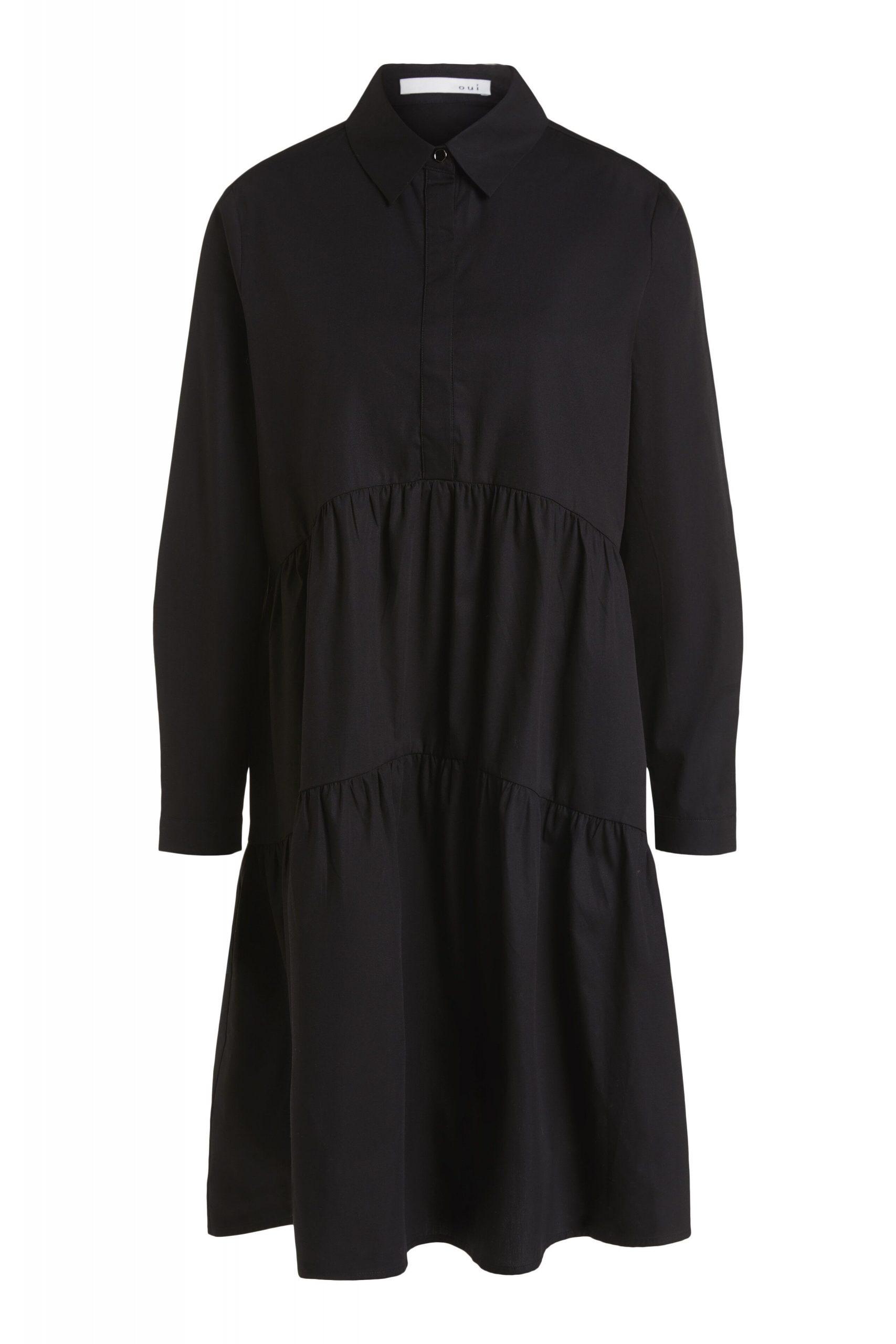 Oui Stufenkleid Mit Hohem Kragen  Kleider  Damenmode