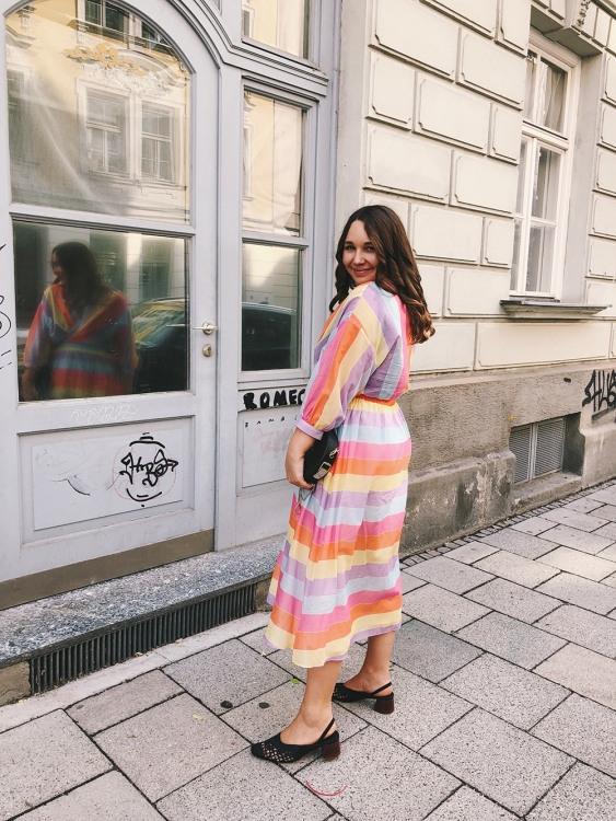 Outfit Das Regenbogenkleid  Amazed