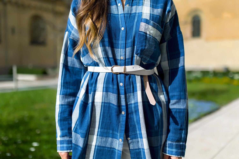 Outfit Hemdblusenkleid Lang Kombinieren  Fashionambit