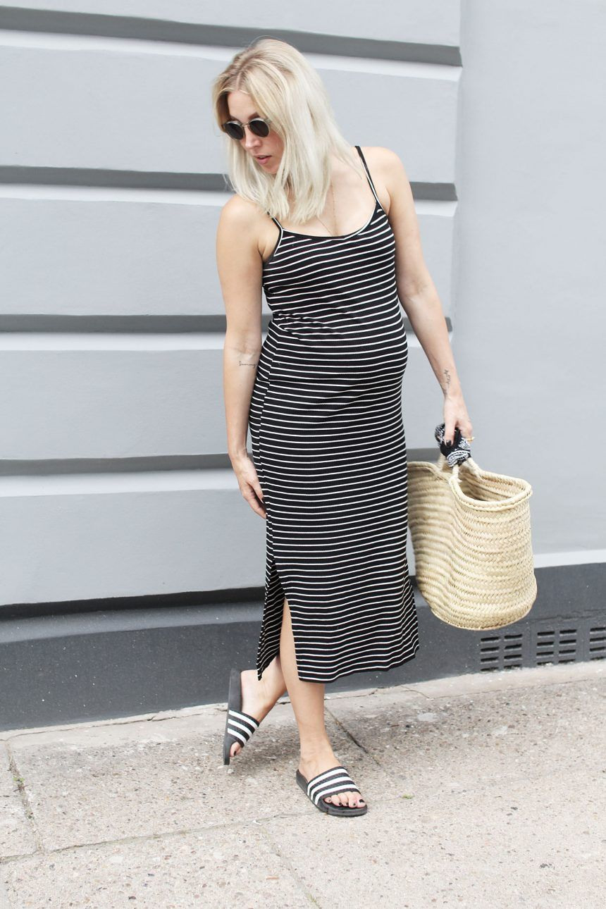 Outfit Preggo Stripes  Sommer Kleidung Outfit Kleidung
