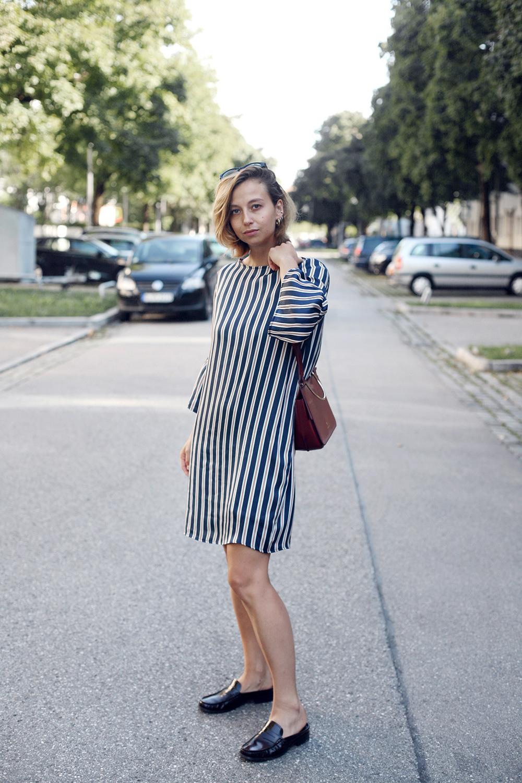 Outfit Streifenkleid  Amazed