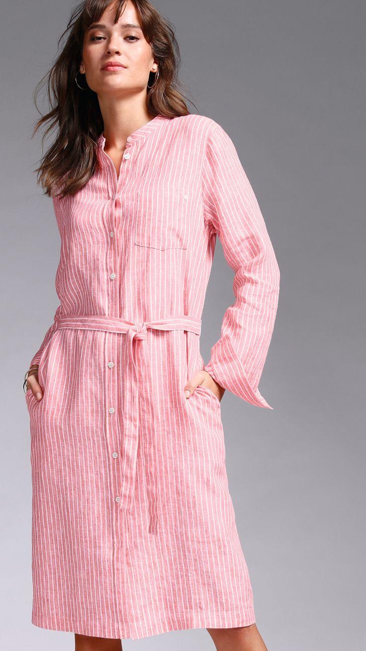 Outfit Tip  Linen Dress In 2020  Kleider Damenmode Mode