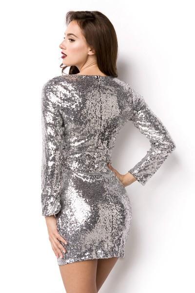 Pailletten Kleid Kleid Für Silvester Outfit Pailettenstoff