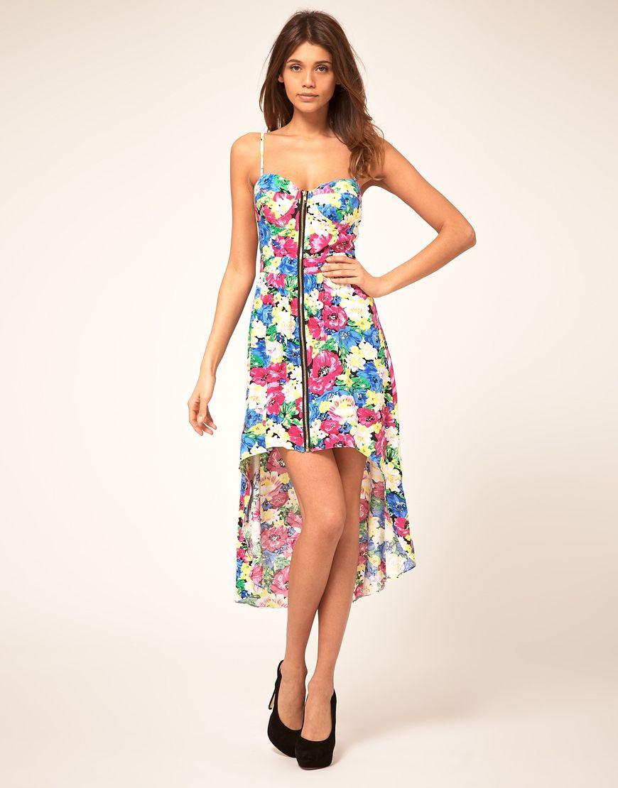 Paprika Floral Zip Front Bustier Dress 6363  Dresses