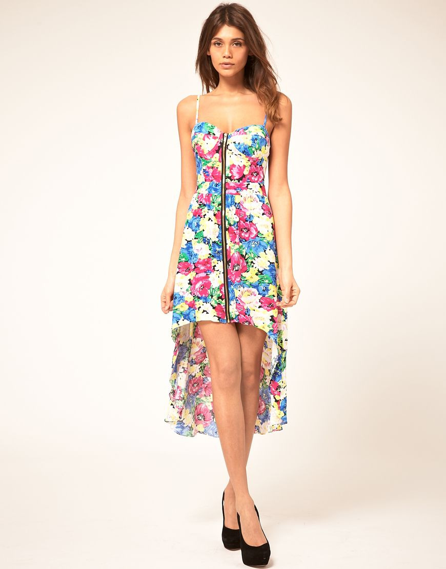 Paprika Floral Zip Front Bustier Dress  Dresses Bustier