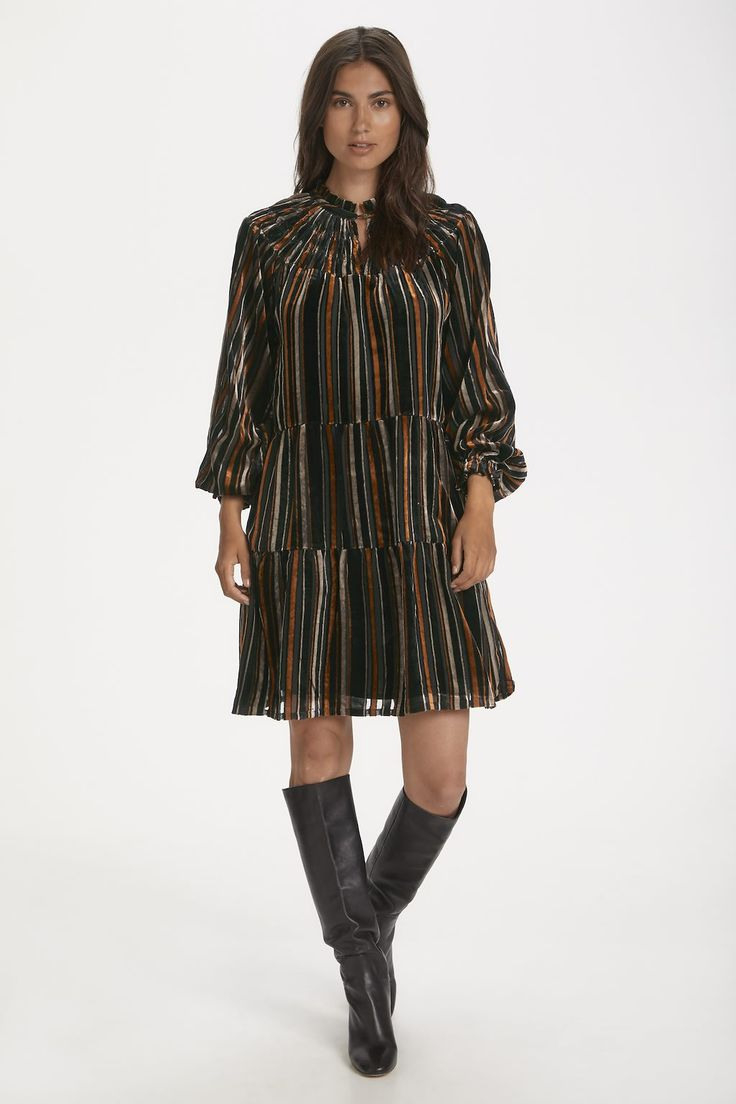 Part Two Kleid Stripe Burnout Black  Shoppen Sie Stripe