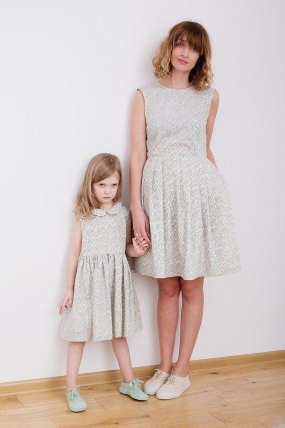 Passende Kleider  Gedruckt Kleider  Popeline Kleider