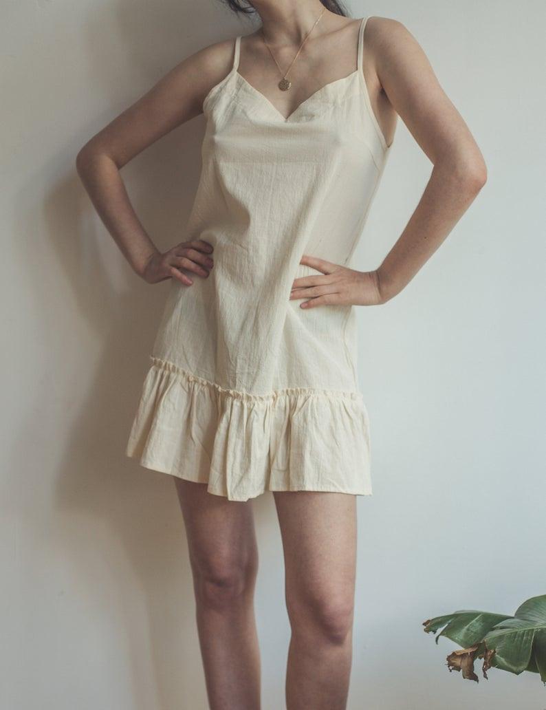 Pastell Gelb Kurze Sommerkleid Vintage Süße Minikleid  Etsy