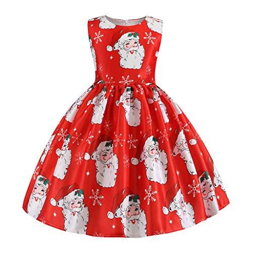 Patifia Kinder Mädchen Weihnachtskleid Kleinkinder Baby