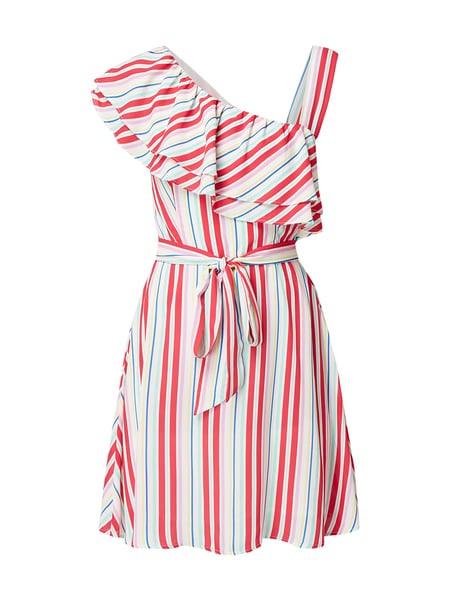 Pepe Jeans Kleid Mit Volantbesatz In Weiß Online Kaufen
