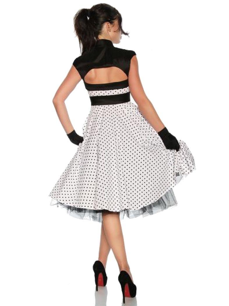 Petticoat Rockabilly Kleid Weiß Mit Punkten
