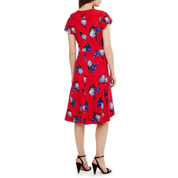 Phase Eight Damen Kleid Idella Mit Tulpenprint Von Ansehen