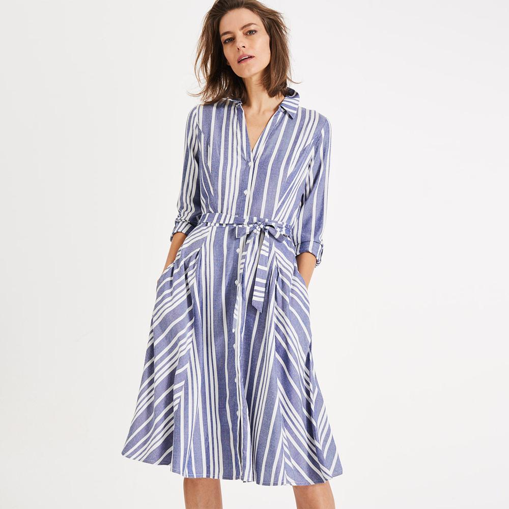 Phase Eight Willa Stripe Dress Blau  Online Kaufen  Manor