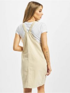 Pieces Damen Kleid Pcasli Colored Pinafore In Beige 752876