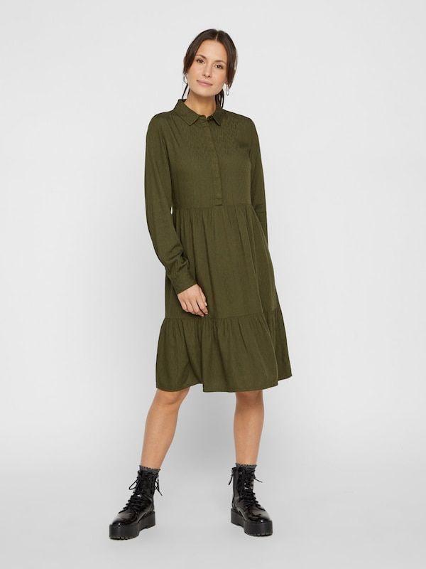 Pieces Kleid In Tanne  About You  Kleider Blusenkleid