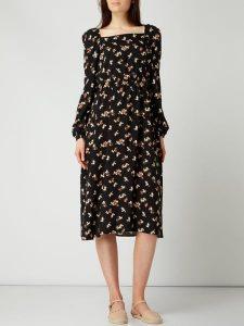 Pieces Kleid Mit Floralem Muster Modell 'Glow' In Grau