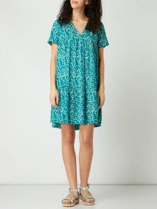 Pieces Kleid Mit Floralem Muster Modell 'Nadin' In Grün