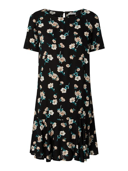 Pieces Kleid Mit Floralem Muster Modell 'Nya' In Grau