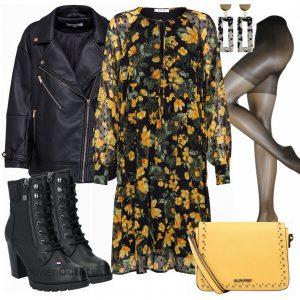 Pieces Kleid Vrouwen Outfit  Komplettes Herfst Outfits